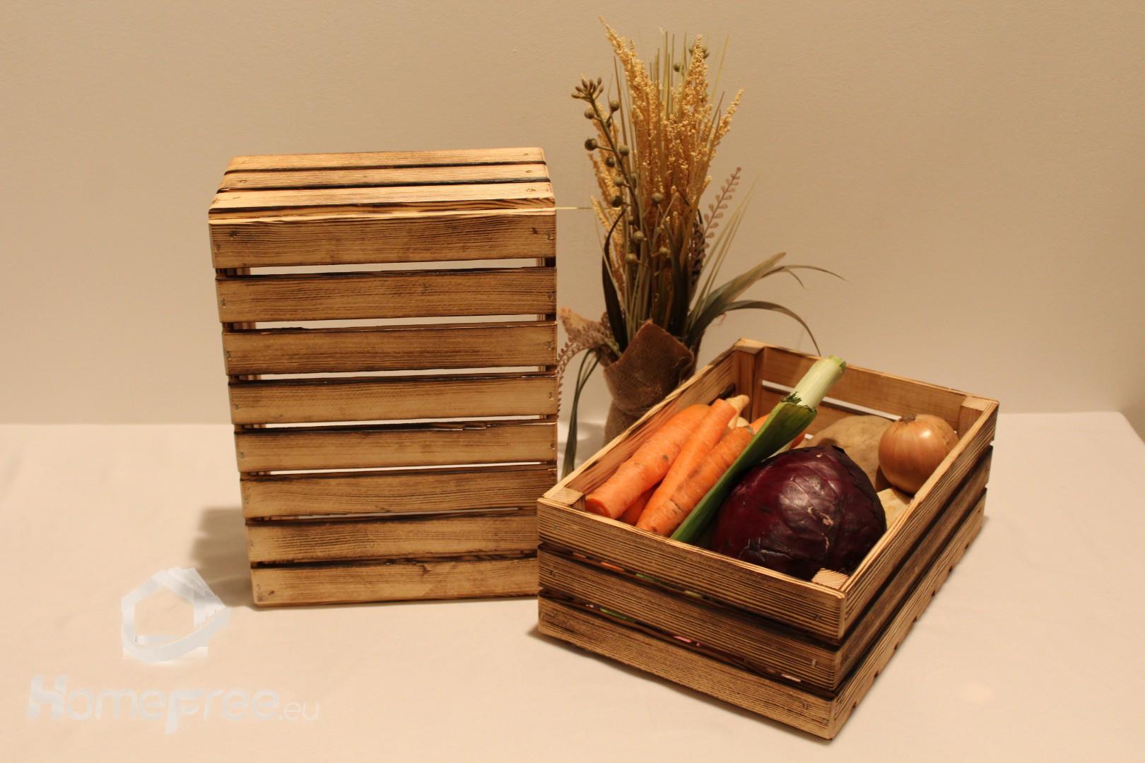 Skrzynki Drewniane Na Owoce Warzywa Tanio Dekoracyjne Półki